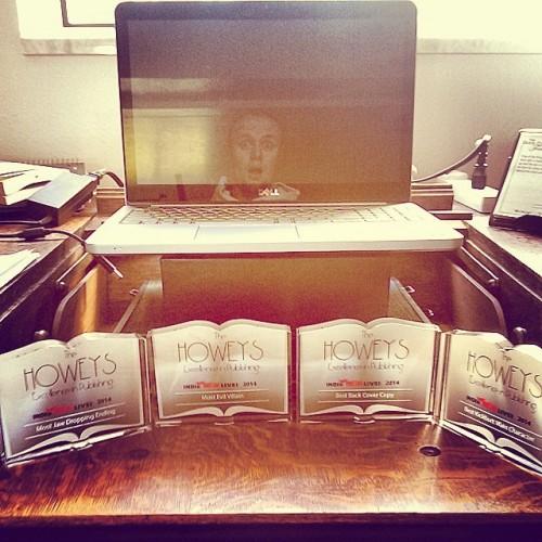 Howey awards at my desk